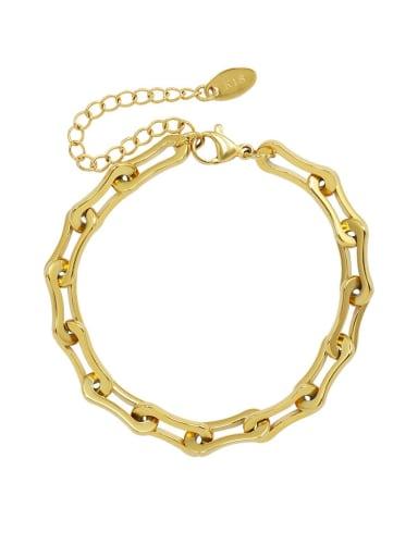 Titanium Steel Hip Hop Geometric  Braclete and Necklace Set
