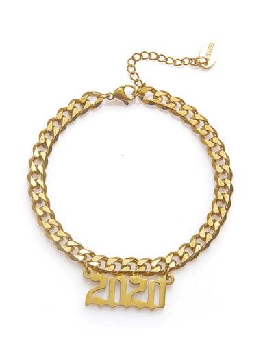 Stainless steel Number Trend Link Bracelet