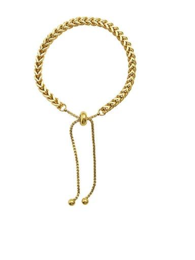 E267 gold bracelet 26cm Titanium Steel Hip Hop Tassel  Braclete and Necklace Set