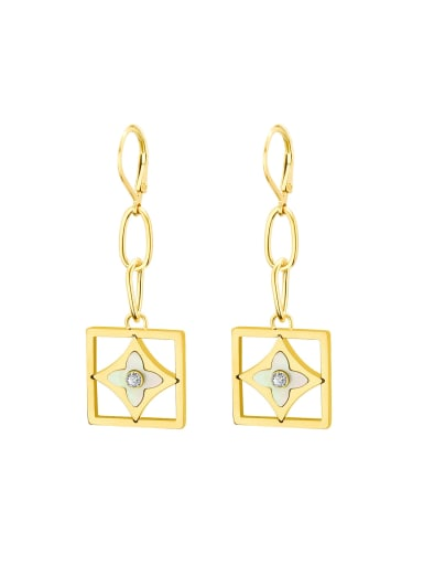 Titanium 316L Stainless Steel Shell Minimalist Geometric Earring and Necklace Set with e-coated waterproof