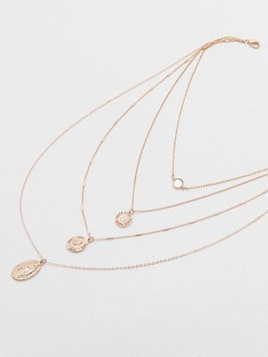 Shuibo chain bone chain women's Fritillaria multilayer alloy necklace