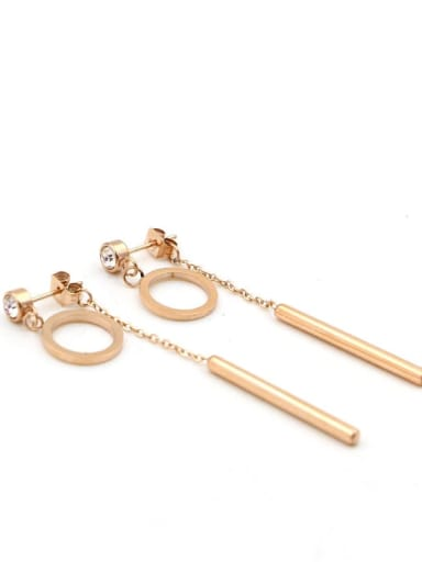 Titanium Tassel Minimalist Drop Earring