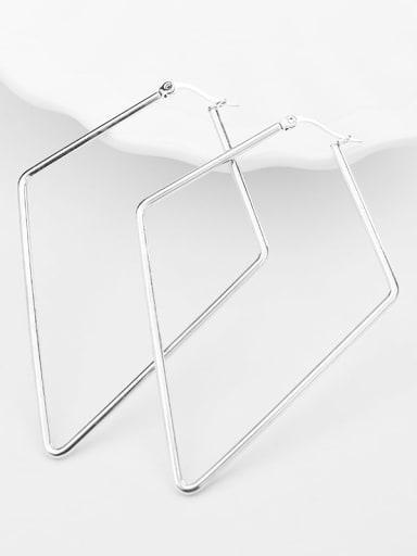 Pentagonal steel color Titanium Steel Geometric Minimalist Huggie Earring