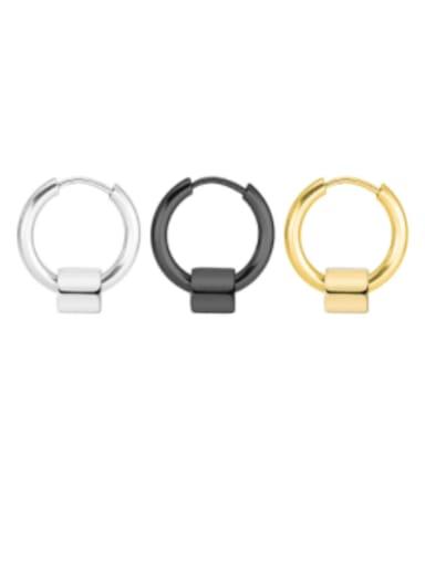 Titanium Steel Geometric Minimalist Huggie Earring  ( single Only One )