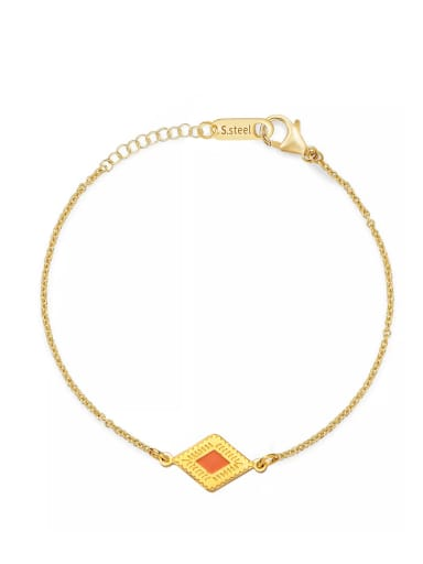 Stainless steel Enamel Geometric Dainty Bracelet