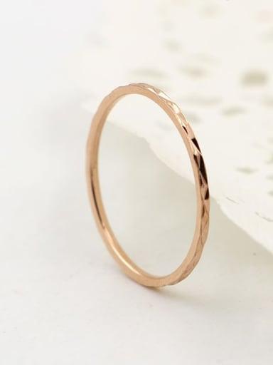 Titanium Rosary Minimalist Band Ring