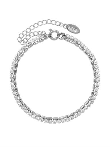 Titanium Steel Hollow Geometric Hip Hop Strand Bracelet