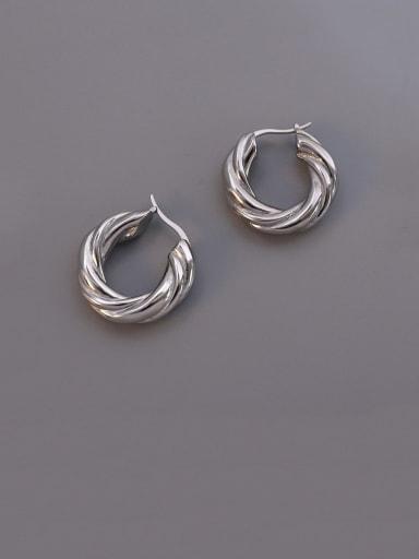 Twist  steel Titanium Steel Geometric Vintage Stud Earring