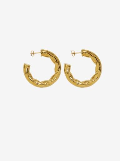 Titanium Steel Geometric Minimalist Stud Earring