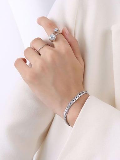 E017 steel wide Bracelet 15 +5cm Titanium Steel Vintage Irregular Bracelet and Necklace Set