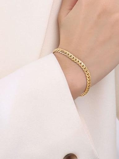 E017 gold wide Bracelet 15 +5cm Titanium Steel Vintage Irregular Bracelet and Necklace Set