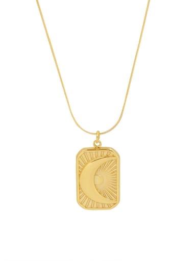 P082 gold necklace 40+ 5cm Titanium Steel Geometric Ethnic Necklace