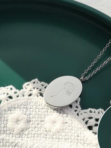 P1141 Steel Titanium Steel Geometric Minimalist Necklace