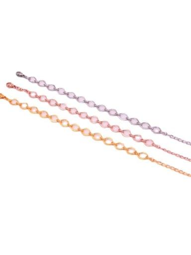 Titanium Steel Geometric Minimalist Link Bracelet