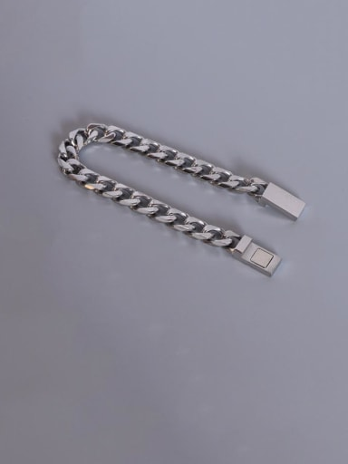 Steel Titanium Steel Geometric Chain Vintage Link Bracelet