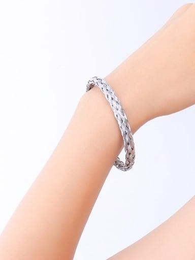 Z224 Steel Bracelet Titanium Steel Geometric Minimalist Band Bangle