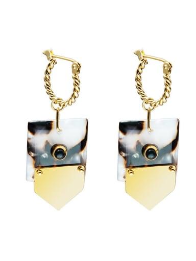 SE20121305B Titanium Steel Geometric Minimalist Huggie Earring