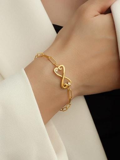 Gold Butterfly Bracelet 16+ 5cm Titanium Steel Cubic Zirconia Bowknot Minimalist Link Bracelet