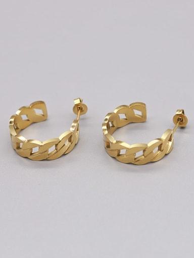 gold earrings Titanium Steel Geometric Vintage Stud Earring