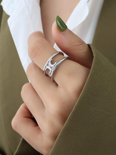 A278 Steel Arc de Triomphe ring Titanium Steel Geometric Hip Hop Stackable Ring