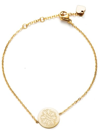 gold Personalized coin Pattern Stainless Steel Bracelet