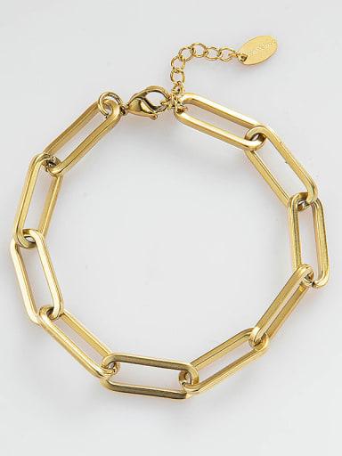 Stainless steel Geometric Trend Link Bracelet