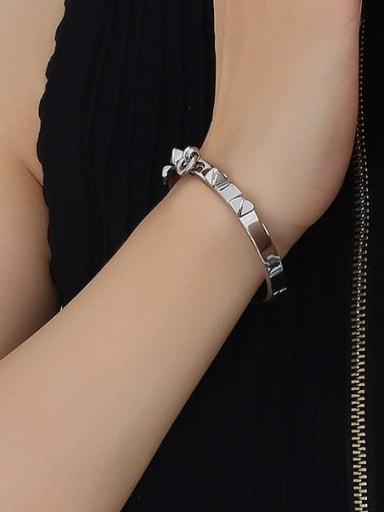Z104 steel bracelet Titanium Steel Geometric Hip Hop Band Bangle