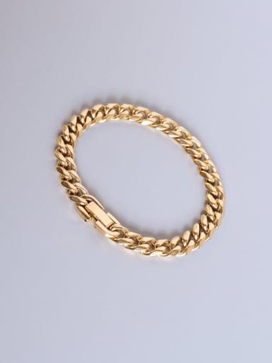 gold Titanium Steel Geometric Chain Vintage Link Bracelet
