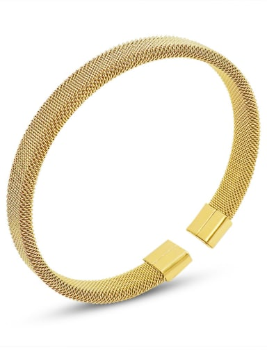 Z223 gold bracelet Titanium Steel Geometric Vintage Band Bangle