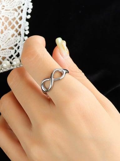 A219 steel ring (opening not adjustable) Titanium Steel Geometric Minimalist Band Ring