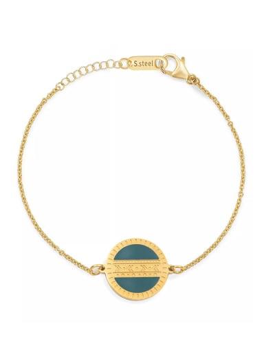 Stainless steel Round Trend Link Bracelet