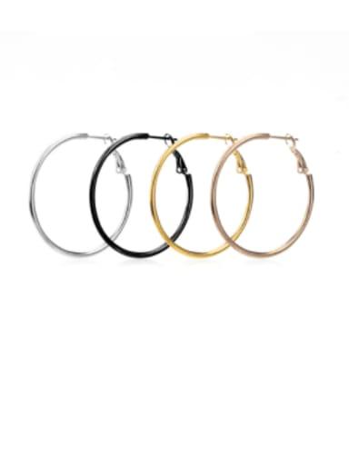 Stainless steel Round Minimalist Hoop Earring