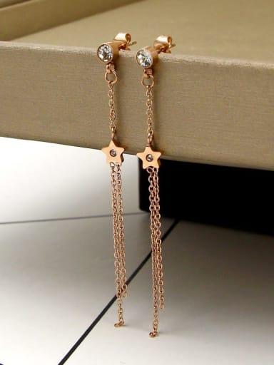 Titanium Tassel Dainty Drop Earring