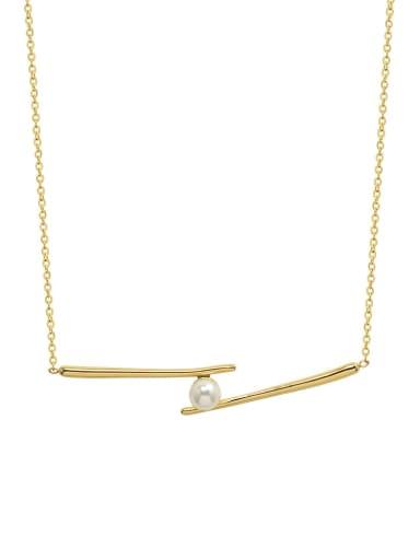 Titanium Steel Imitation Pearl Smiley Minimalist Necklace