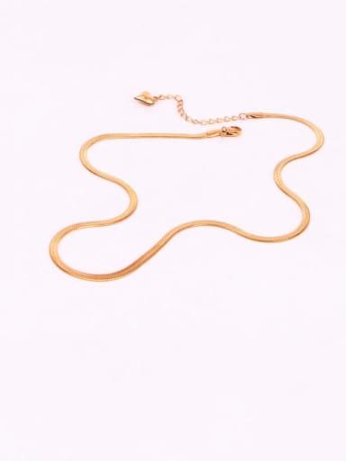 Titanium Steel  Minimalist  Snake bone  Chain
