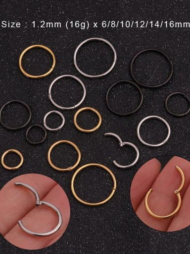 Stainless steel Round Hoop Earring
