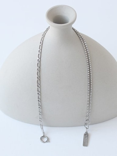 Titanium Steel Locket Vintage Hollow Chain Necklace