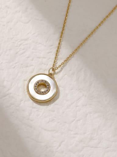 Brass Shell Geometric Minimalist Trend Korean Fashion Necklace