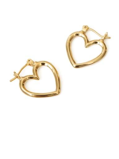 love Brass Hollow Star Vintage Drop Earring