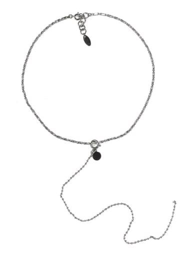 Brass Tassel Vintage Lariat Necklace