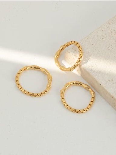 Brass Irregular Vintage Band Ring