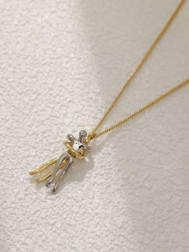 Brass Shell Irregular Minimalist Necklace