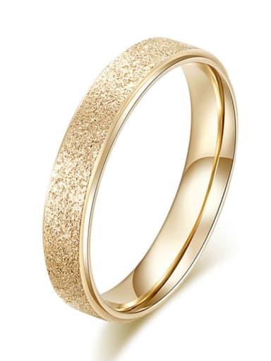 Titanium  Round Geometric Minimalist Band Ring