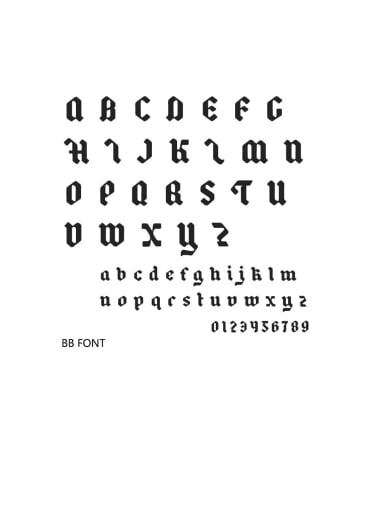 BB Font Stainless steel Letter Minimalist  Name custom name ring