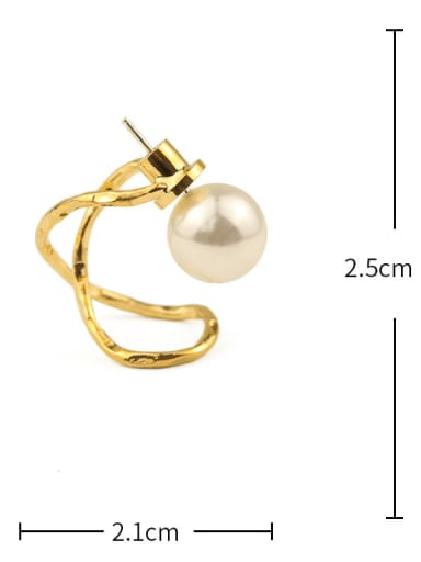 Cross payment Brass Imitation Pearl Irregular Vintage Drop Earring