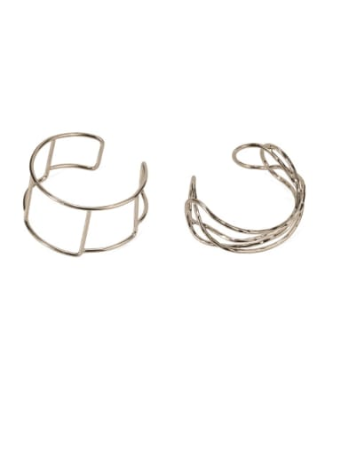 Brass  Vintage Geometric chain vintage twist  Cuff Bangle