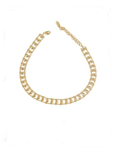 Brass Hollow Heart Minimalist Choker Necklace