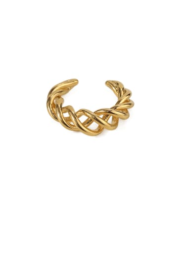 Gold (single) Brass Hollow Geometric Vintage Single Earring