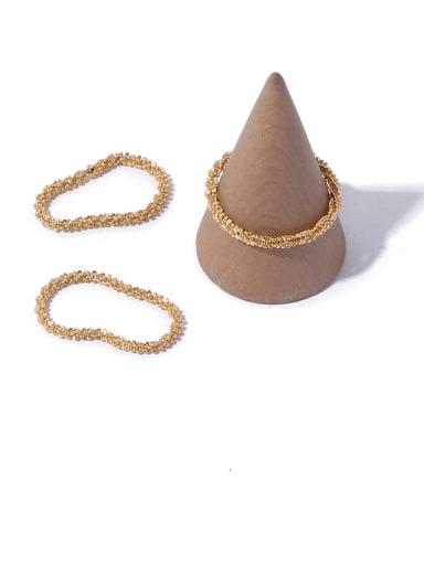 Brass Geometric Minimalist  chain Band Ring
