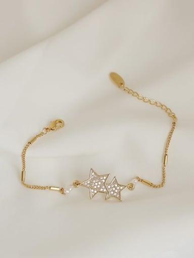 Brass Cubic Zirconia Star Vintage Bracelet